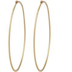Social Anarchy Medium Hand-Hammered Hoop (66010 RSD) ❤ liked on Polyvore featuring jewelry, earrings, accessories, brincos, bijoux, 14k hoop earrings, hammered jewelry, gold jewellery, 14k gold jewelry and hoop earrings