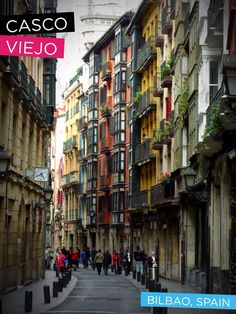 Casco Viejo in Bilbao, Spain