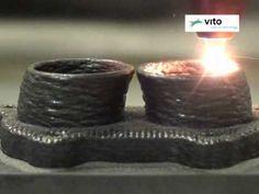 3-dimensional laser cladding - VITO - www.lcv.be - YouTube