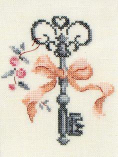 Moja pasja, mój świat: Délicates miniatures - Le clef - Véronique Enginger Creation Point de Croix 27
