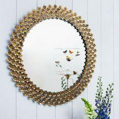 Thousand Daisies Golden Mirror - View All Mirrors - Mirrors