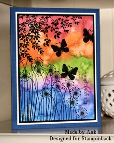 It's Your Day watercolor card by Ank Watercolor Cards, Watercolor Background, Watercolor Paintings, Watercolour, Kids Background, Butterfly Cards, Butterfly Wings, Art Plastique, Elementary Art