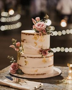 and cake!🍰 This cake by Rose and Co. looks so deliciou… All you need is love. and cake!🍰 This cake by Rose and Co. looks so deliciou… – wedding cakes – Wedding Cake Rustic, Fall Wedding Cakes, Wedding Cakes With Cupcakes, Elegant Wedding Cakes, Beautiful Wedding Cakes, Wedding Cake Designs, Beautiful Cakes, Cupcake Cakes, Spring Wedding