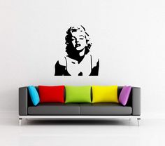 Famous Marilyn Monroe Adhesive Vinyl Decal Sticker Stencil Wall Pattern New by VinylCre8iveDesigns on Etsy
