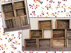 Meubles en caisses à pommes vintage