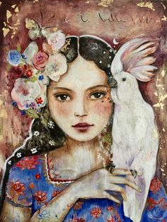 This print is from my original watercolor. Please select a size in the options above. I use a heavy weight archival and acid free high quality matte Epson fine art paper. It has a beautiful velvety soft feel to it and a warm richness. Its cotton base. Fantasy Kunst, Fantasy Art, Illustrations, Illustration Art, Claudia Tremblay, Lds Art, Canadian Artists, Gravure, Portrait Art