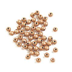Antique Copper Round Beads, 3mm, 50pc   Aunties Beads