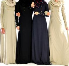 Hijab Fashion 2016/2017: Aab Abaya  Hijab Fashion 2016/2017: Sélection de looks tendances spécial voilées Look Descreption Aab Abaya