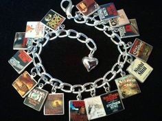 Personalized Photo Charms Compatible with Pandora Bracelets. STEPHEN KING Book Charm Bracelet 17 Classic Stephen King Book Cover Charms http://www.bonanza.com/listings/141904927