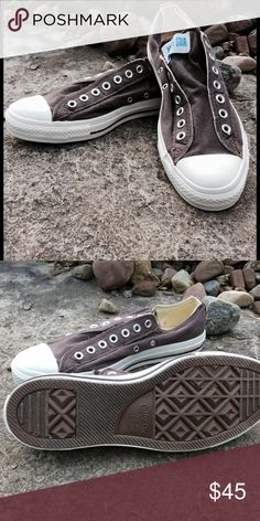 buy online df9ed a5698 Men s Converse Chuck Taylor All Star Slip Low Top NWOT Brown canvas  laceless Chuck Taylor Slip