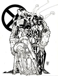 Eric Canete Colossus and Queens Comic Art