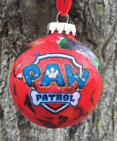 Paw Patrol Christmas ornaments will be as big a hit as Santa Claus at your house! You may want more than one of these Paw Patrol Christmas ornaments. Christmas Crafts Fir Kids, Paw Patrol Christmas Ornaments, Unique Christmas Decorations, Diy Christmas Ornaments, Winter Christmas, Holiday Crafts, Christmas Bulbs, Christmas Gifts, Christmas Ideas