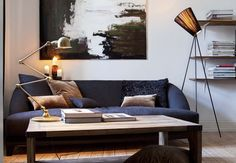 Lamp on table from Jieldé and the lamp Oslo Wood I Northern Lighting.