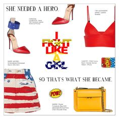 """I FIGHT LIKE A GIRL"" by larissa-takahassi ❤ liked on Polyvore featuring T By Alexander Wang, Christian Louboutin, Marc Jacobs, Marni and Casetify"