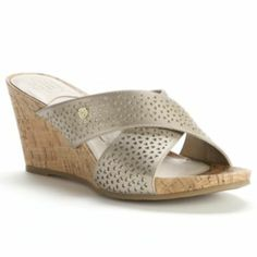 3964bec1c Dana Buchman Cutout Wedge Sandals - Women Kohls