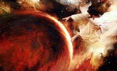 Gen 1, 1-2 ... 1. No princípio, Deus criou os céus e a terra. 2. A terra estava informe e vazia; as trevas cobriam o abismo e o Espírito de Deus pairava sobre as águas.