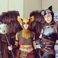 Hawkwoman and Catwoman