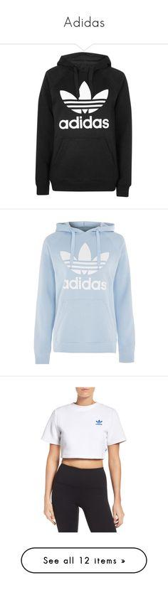 """""""Adidas"""" by babygirlglends ❤ liked on Polyvore featuring tops, hoodies, multi, white cropped hoodie, hooded pullover, cropped hoodie, floral tops, adidas trefoil hoodie, black and sweatshirt hoodies"""