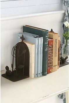 Great bookends...urban outfitters has the cutest stuff I swear!