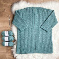 Crochet Saco, Crochet Jumper, Crochet Cardigan Pattern, Tunisian Crochet, Easy Crochet, Crochet Patterns, Sweater Patterns, Crochet Sweaters, Crochet Ideas