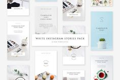 White Instagram Stories Pack by Swiss_cube on @creativemarket