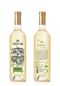 Thirsty Owl wine by Görkem Şanlık, via Behance