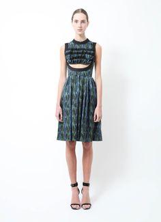 Prada | A/W 2010 Printed Midriff Dress | RESEE