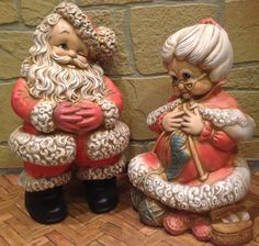 Atlantic Mold of  Mr and Mrs. Claus by VintageInTheBeehive on Etsy