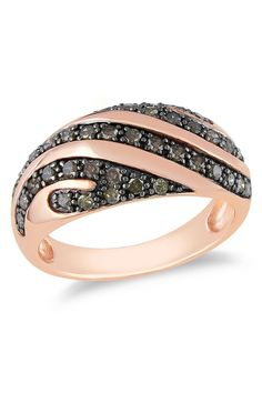 0.5ct Brown Diamond Ring in Pink Silver - Beyond the Rack