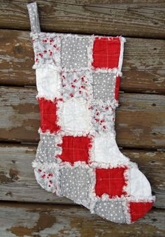 rag quilted christmas stocking kate and birdie buy 2 save 10 by regandags on etsy https