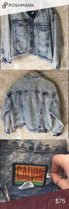 Vintage Acid Wash Calvin Klein Denim Jacket! Vintage Acid Wash Calvin Klein Denim Jacket  Decades old Denim Jacket!  Cropped Fit!  Legendary Style! Calvin Klein Jackets & Coats