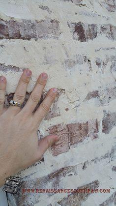Mortar Washed Brick Or German Smear On Bricks At Front Of