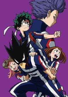 Hitoshi - Izuku - Fumikage - Mei - Ochaco | My Hero Academia