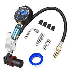 Tire Pressure Gauge, Serpeo Digital Auto Tire Inflator00 with Gauge, Air Compressor Accessories with Air Chuck, Valve Extender, Air Hose, 200 Psi #Tire #Pressure #Gauge, #Serpeo #Digital #Auto #Inflator #with #Compressor #Accessories #Chuck, #Valve #Extender, #Hose,