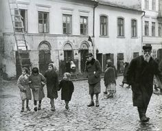 Lublin, Poland, A Jewish ghetto street scene. Facts About The Holocaust, Jewish Ghetto, London Metropolitan, Berlin, The Magnificent Seven, Russian American, Central And Eastern Europe, Jewish History, Museum