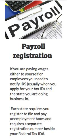 Payroll Registration If You Are Paying Wages Either To Yourself Or