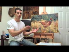 """▶ """"The Runner"""" Takes Off; Ringneck Pheasant Painted with a Palette Knife - YouTube"""