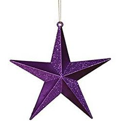 The Holiday Aisle Matching Iridescent Glitter Christmas Star Ornament Color: Purple Passion Purple Love, All Things Purple, Plum Purple, Purple Rain, Shades Of Purple, Purple Stuff, Lilac, Lavender, Purple Christmas Ornaments