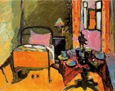 Wassily Kandinsky.  Bedroom in Aintmillerstrasse, 1909.