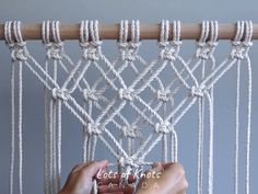 Macrame Tutorial - Starting Your Work! Macrame Design, Macrame Art, Macrame Projects, How To Macrame, Macrame Supplies, Micro Macrame, Macrame Wall Hanging Patterns, Macrame Plant Hangers, Free Macrame Patterns