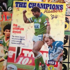 FLASHBACK: Canberra Raiders captain Mal Meninga, 1994 Premiership winners.