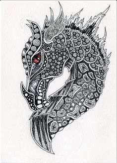 dragon zentangle ausmalbild   free printable coloring pages   drachen ausmalbilder, ausmalen