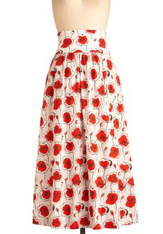 Poppies and Thank You Skirt