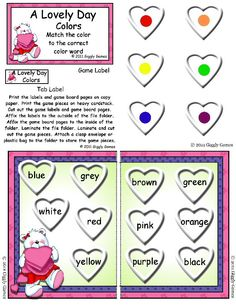 A Lovely Day Colors File Folder Game  $2.95