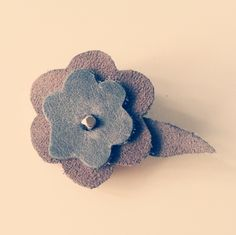 Suede & Leather Flower Hair Clip DIY