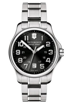 Victorinox Swiss Army® 'Officer' Stainless Steel Watch