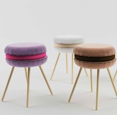 Macaron-Shaped Seating from Italy's Li-Ving Design Studio – Design & Trend Report Basement Inspiration, Design Inspiration, Indoor Slides, Roomspiration, Home Staging, Kids House, Decoration, Macarons, Craftsman