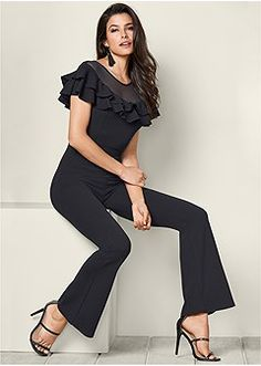 Shop the VENUS sale prices on women's sexy jumpsuits and rompers in one shoulder and strapless styles, browse online or Jumpsuit Dressy, Jumpsuit Outfit, Formal Dress Shops, Stitch Fix Outfits, Black High Heels, Womens Fashion For Work, Ladies Dress Design, Leather And Lace, Fashion Outfits