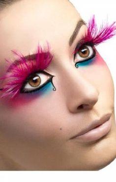Feder Wimpern Neon pink: Amazon.de: Spielzeug