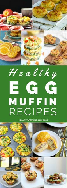 Healthy Breakfast Ideas Easy To Make : Illustration Description These healthy Egg Muffin Recipes can be made ahead of time and enjoyed for breakfast all week! Best Egg Recipes, Healthy Egg Recipes, Healthy Low Calorie Meals, Muffin Recipes, Real Food Recipes, Healthy Eating, Vegetable Recipes, Bread Recipes, Easy Recipes